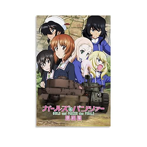XCXCXC Póster de anime de Girls Und Panzer Das Finale en lienzo para pared y arte con impresión moderna para dormitorio familiar, 30 x 45 cm