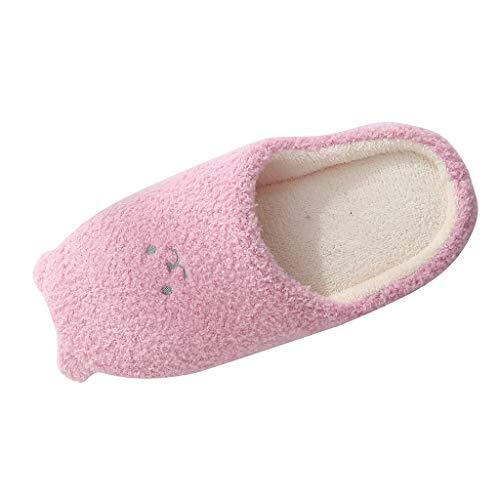 Lilicat Damen Mode Hausschuhe Winter Baumwolle Pantoffeln Plüsch Wärme Weiche Hausschuhe Indoor Lässige Hausschuhe Kuschelige Home rutschfeste Slippers mit Cartoon Bär