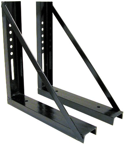 Buyers Products 1701005B Bolted Black Structural Steel Mounting Brackets, 18 x 18 Inch, Set of 2