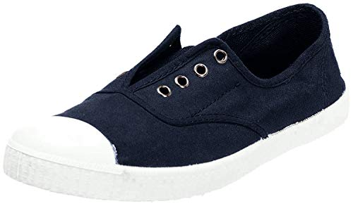 Victoria Inglesa Elastico Tenido Punt Damen Sneaker, Azul (Marine), 36 EU