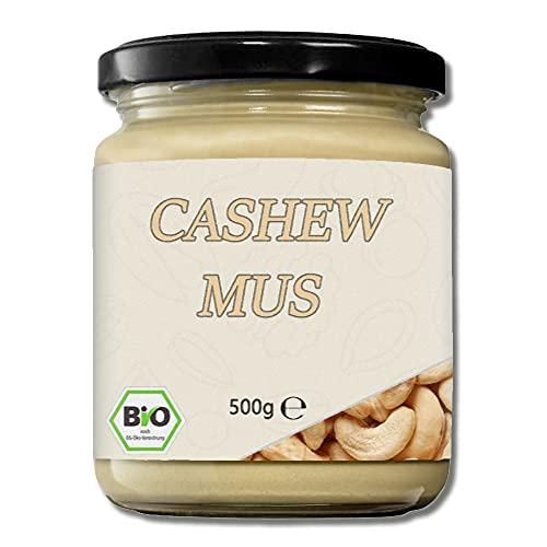 Mynatura Bio Cashewmus I Cashewnuss I Gepresst I Cashew I Brotaufstrich I Nussmus I Vegan I Im Glas (1x 500g)