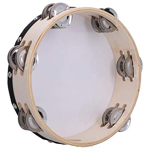 Instrumento musical Pandereta Row Jingle Durable para principiantes Oboísta para entretenimiento familiar(Bible dove)