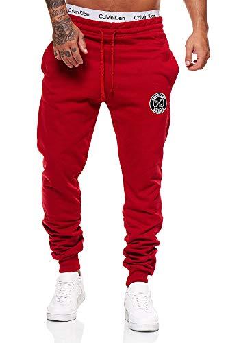 OneRedox Herren Jogginghose Sporthose Männer Trainingshose Sweatpants 3676C Rot S