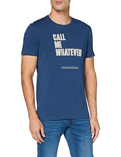 Sisley T-Shirt, Denim Scuro 20k, L Uomo