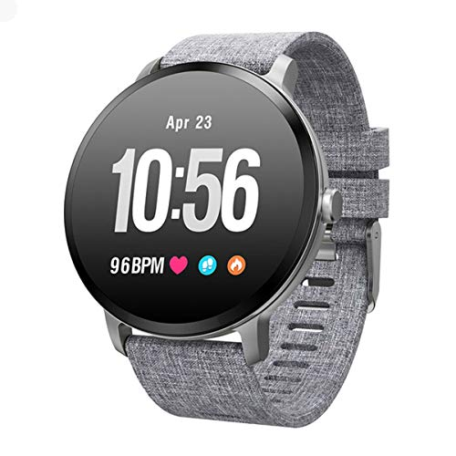 Best-ycldcyp V11 Smart watch IP67 Waterproof 1.3inch Activity Sports Fitness Tracker Heart Rate Monitor Smartwatch (Color : Grey)