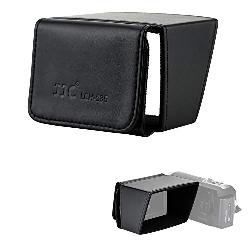 JJC Camcorder 3 LCD Screen Hood for Sony FDR-AX53 AX33 AX43 HDR-CX405 CX455 CX440 CX675 Canon XA15 XA11 XA40 XA50 VIXIA HF G21 G26 G50 G60 R800 R80 R82 Panasonic HC-V770 HC-VX981 HC-V180 HC-V380