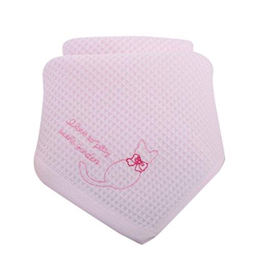 kexinda Bebé Gasa de algodón Cara Patrones Toalla Toalla Gato Pañuelos Bebé Comida Toalla de la Saliva