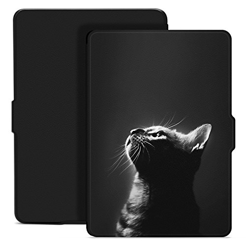 Ayotu Colorful Case for Kindle Paperwhite Auto Wake/Sleep Smart Protective Cover Case - Fits All Paperwhite Generations Prior to 2018(Not Fit All-New Kindle Paperwhite 10th Gen) K5-09 The Cat 2