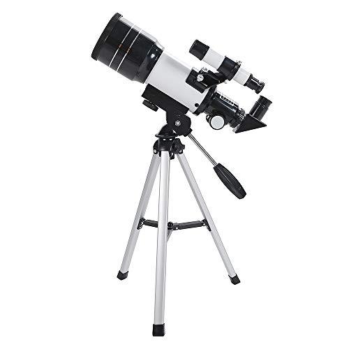 FAONL Telescopio Astronómico De Refracción Espacial Monocular F30070m Telescopio Exterior Objetivo De Viaje con Trípode Portátil