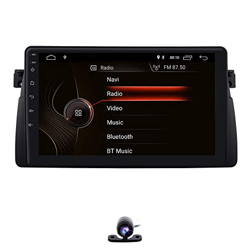 Reproductor multimedia para automóvil Unidad principal 9 pulgadas Android 10 Reproductor de video estéreo para automóvil GPS Can-Bus Mirrorlink Bluetooth OBD2 Pantalla táctil múltiple para BMW E46 3e