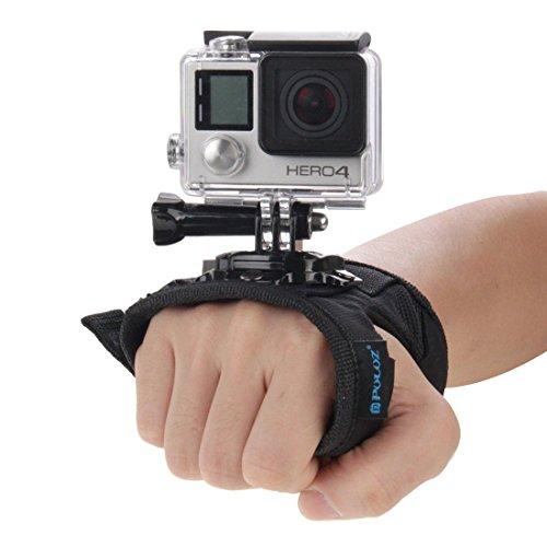 O RLY Handschlaufe + Armband Strap Mount Schwarz für GoPro Hero 3 4 5 6 7Black 8 Session SJ4000 SJ5000 SJ6000 SJCAM Action Kamera