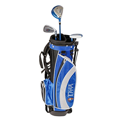 Longridge Kinder Golf Zubehör Junior Tiger Plus Paket GPH 3 Schläger, Schwarz/Blau, LH (Linke Hand), Regular (R), 0