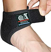 IRUFA, AN-OS-11,3D Breathable Elastic Knit Patented Fabric Adjustable Athletics Achillies Tendon Ankle Wrap, Plantar Fasciitis, Pain Relief for Sprains, Strains, Arthritis and Torn Tendons (L)