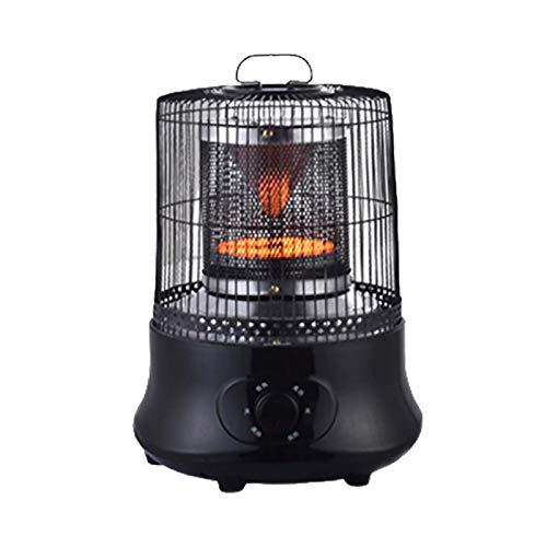 Portable Mini Calefactor,Escritorio Bajo Consumo Eficiente Calefactor Eléctrico 360-distribución De Calor De Grado 2 Ajustes De Calor Protección Contra Sobrecalentamiento Para Casa-Negro 30.4x30.4x38.