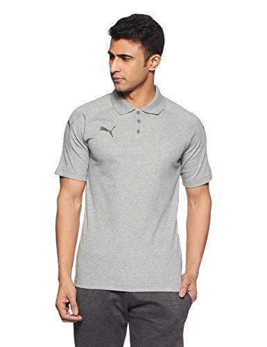 PUMA Herren Ascension Casuals Polo Shirt, Medium Gray Heather, XXL