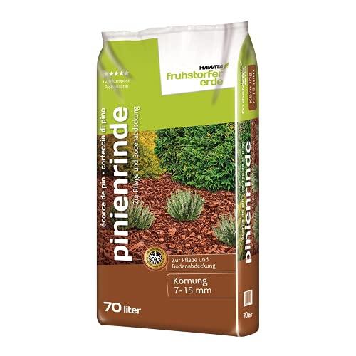 Hawita Fruhstorfer Pinienrinde 1x70l, Körnung 7-15mm, nachhaltige Pflege + Bodenabdeckung, Baumrinde, Gartengestaltung