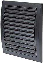 Antraciet ventilatierooster 190 x 190 mm met schuifregelaar afsluitrooster insectenbescherming, ABS-rooster