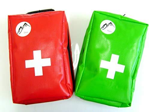 Medipouch röd och grön dura lila vattentät första hjälpväska (statlig färg när du beställer eller en röd kommer att levereras)