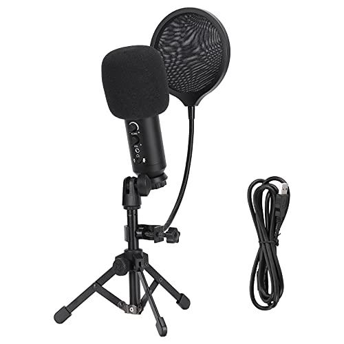 Bekabelde microfoon, aluminiumlegering 6,1 x 1,8 inch microfoon Cardioïde gerichtheidsontwerp voor studio-opname voor…