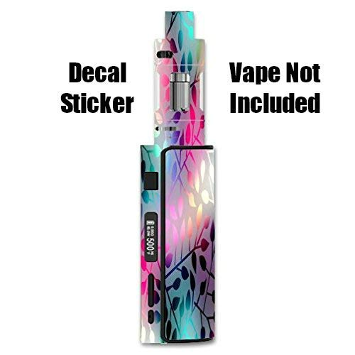 Decal Sticker for Eleaf iStick 60W TC Melo 2 Vape E-Cig Mod Box Vinyl Decal Sticker Skin Wrap /    Decal Sticker    Neon Colorful Leaves Design Print Image