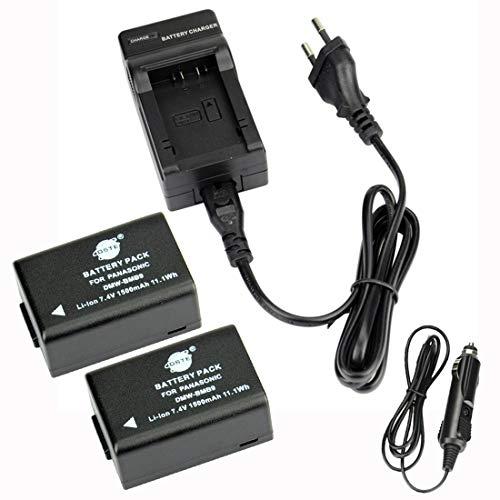 DST(2 Pack)Ersatz Batterie und DC108E Reise Ladegerät Kompatibel für Panasonic DMW-BMB9 Lumix DMC-FZ45 DMC-FZ47 DMC-FZ48 DMC-FZ60 DMC-FZ62 DMC-FZ70 DMC-FZ72 DMC-FZ100 DMC-FZ150 DC-FZ80 V-Lux2 V-Lux3