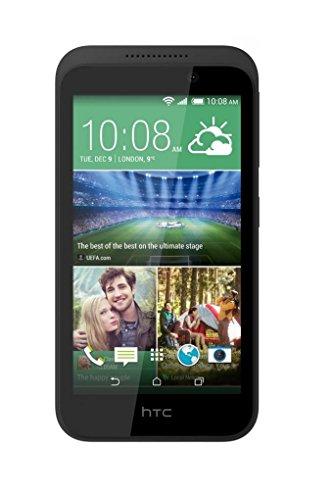HTC 99HABW012-00 Desire 320 Smartphone (11,4 cm (4,5 Zoll), 1,3GHz, 4GB interner Speicher, 5 Megapixel Kamera, Bluetooth, Android) Meridian grau