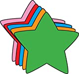 """5.5"""" Star Assorted Color Creative Cut-Outs, 31 Cut-Outs in a Pack for Star Inspired Classroom/School Craft Projects."""