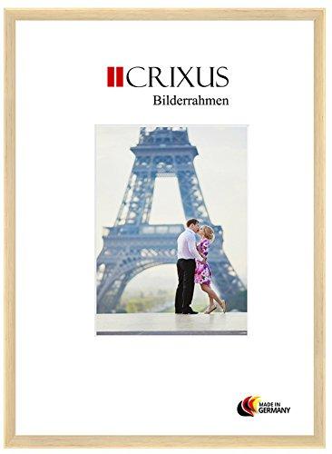 CRIXUS Crixus23 Marco de Fotos de Madera SÓLIDA para 23 x 32 cm Fotos, Color: Natural, con Vidrio acrílico antirreflectante (1mm), Ancho del Marco: 23mm, Dimensiones externas: 26,4 x 35,4 cm