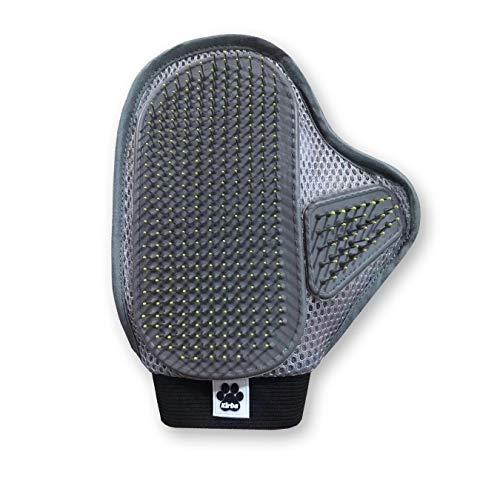 Kirba Trading ® Premium Handschuhbürste für Hund & Katze - Handschuh für effektive Fellpflege -mit Stahlborsten - Inkl. E-Book Ratgeber - mit spezieller Fixierung an die Hand