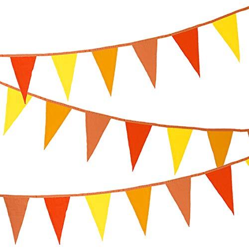 Pratende Tafels Boho Stof Bunting Handgestikt in india 12 Vlaggen 100% Katoen 3 meter