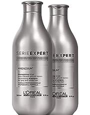 L'Oréal Professionnel Paris - Serie Expert Silver Shampoo professionale anti-giallo per capelli bianchi, grigi e iced blonde, protezione del colore, con Magnesio e pigmenti viola, 300ml