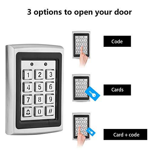 Tonysa toegangscontrole toetsenbord, NIEUW RFID-lezer, codeslot, deuropener voor kantoor en thuis, compatibel met achtergrondverlichting, lange levensduur, slijtvastheid, slagvast