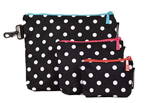 Maggie Mather Extra Bag - 3 Bag Set - Black & White Dots