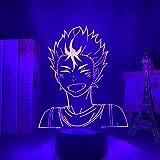 Gran Tamaño Luz Nocturna de Anime Haikyuu Yu Nishinoya para Decoración de Dormitorio, Luz Nocturna para Niños, Regalo de Cumpleaños para Niños, Lámpara Manga 3D Nishinoya Haikyu