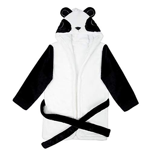 Remebe Albornoces Bebe, Bata de Baño Bebe Forma Panda Linda, Albornoz Suave de Algodón, Albornoces con Capucha para Niñas y Niños, Bebé con Capucha Albornoz Camisón Panda Suave Paño