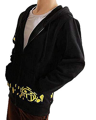 Sudadera con capucha One Piece Trafalgar Law Negro Small 160-165 Cm altura