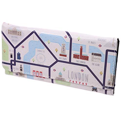 UP Damen Geldbörse XL Stadtplan London Portmonee Geldbeutel Langbörse Brieftasche
