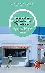 Thirteen modern English and American short stories de Ray Bradbury