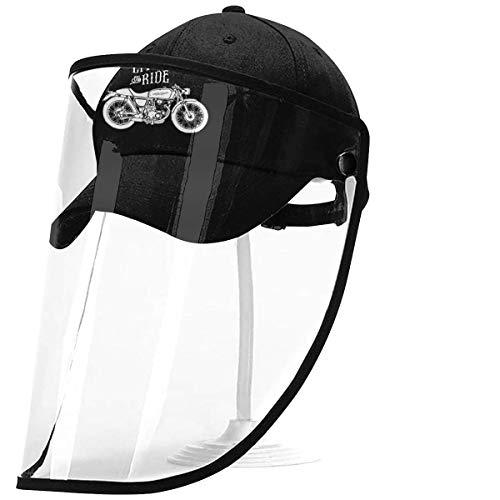 ZAlay Motocicleta Personalizada Inspirada Seguridad Visera Visera Gorra Protectora de Cara Completa Gorra de béisbol