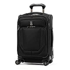 Travelpro Crew Versapack Softside Expandable Spinner Wheel Luggage, Jet Black, Carry-On 20-Inch