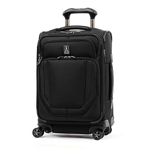 Travelpro Crew Versapack-Softside Expandable Spinner Wheel Luggage, Jet Black, Carry-On 20-Inch