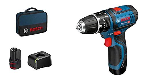 Bosch GSB12V-15 06019B690H Taladro, Negro/Azul