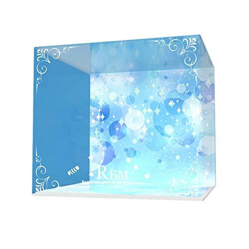 Pantalla Kadokawa GSCx Kakugawa Re Rem cumpleaños Torta de almacenamiento acrílico luz LED caja hecha a mano GK cubierta antipolvo 20 * 20 * 18 cm de altura (Color : Up and down light)