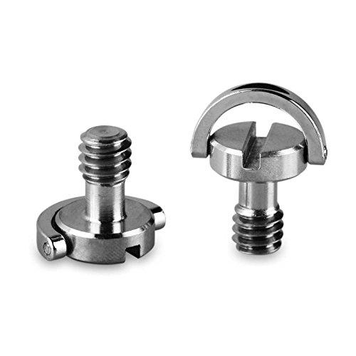 SMALLRIG 1/4-Zoll-Kamera-Befestigungsschraube für Kamera-Stativ, Schnellverschluss-Platte (Packung mit 2 Stück) - 838