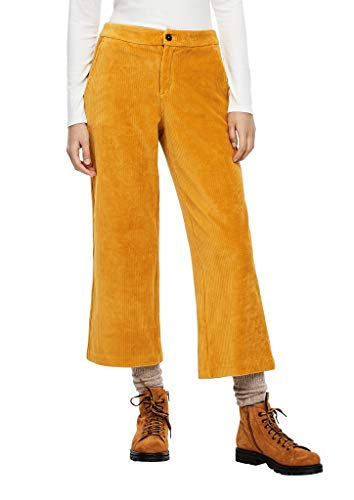 s.Oliver Damen Regular Fit: Culotte aus Cord yellow 42