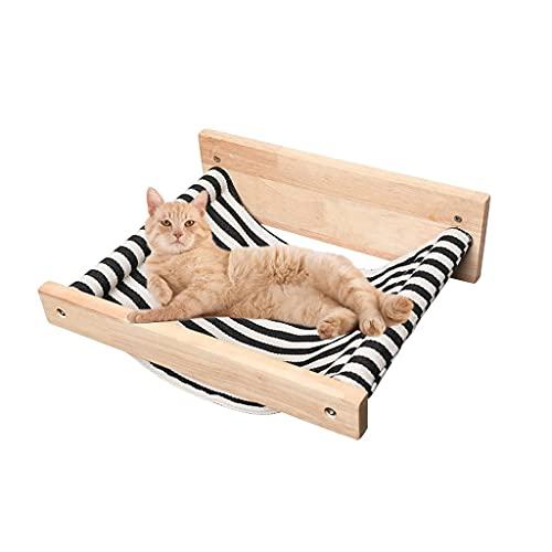 WUHUAROU Muebles para Mascotas Gatos Percha Gatos de Madera montados en la Pared Hamaca Suave Cama Gatito Juego de estantes de Pared Rascadores Poste de Escalada Gatos Casa del árbol