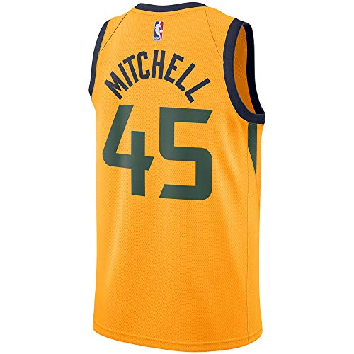 Donovan Mitchell Utah Jazz #45 Official Youth 8-20 Swingman Jersey (X-Large 18/20, Donovan Mitchell Utah Jazz Yellow Statement Edtion)