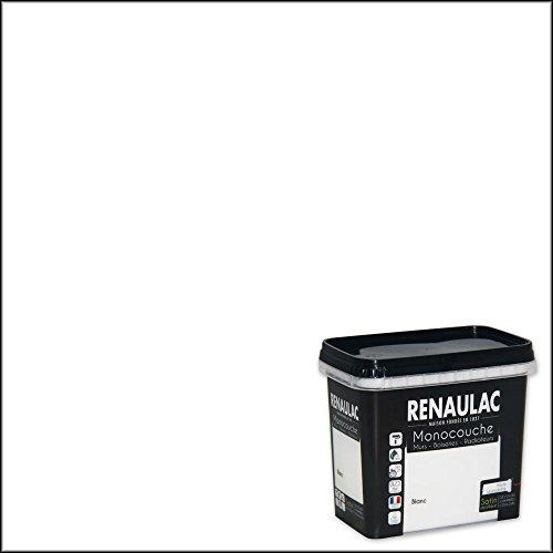Renaulac Peinture monocouche multisupports Blanc Satin 0,75L - 8m²