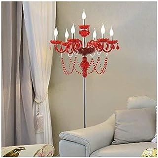 DXXWANG Lampadaire de lecture lumières décoratives, lampe sur pied Style décoratif en cristal européen Simple salon créati...