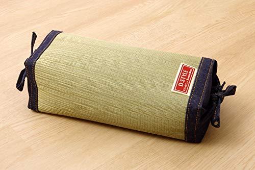 IKEHIKO Almohada tradicional japonesa hecha de hierba Igusa Rush natural, altura ajustable, 30 x 15 cm, fabricada en mezclilla japonesa 3644819